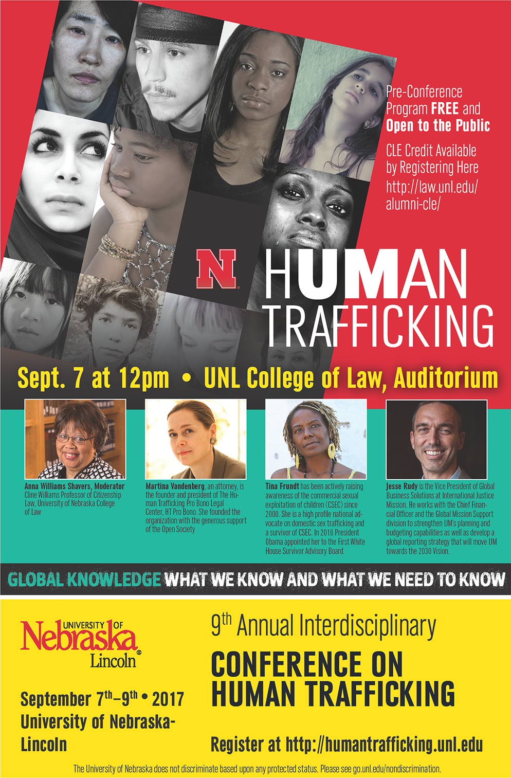 Free Event Sept. 7 at 12pm - UNL College of Law, Auditorium